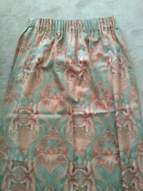 Pair of large, beautifully made, lined curtains