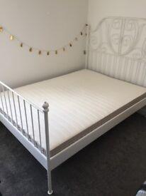 ikea LEIRVIK Bed frame with mattress