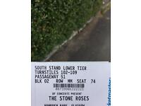 STONE ROSES LOWER TIER SEATS