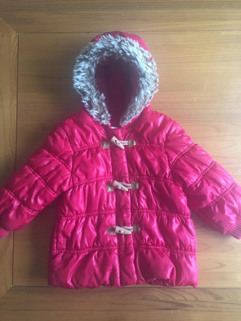 6c48e67df Rrp £28 NEXT baby Girls boys unisex red puffer winter coat jacket age ...