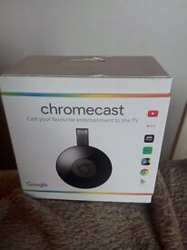 Boxed chrome cast as new with all accessories