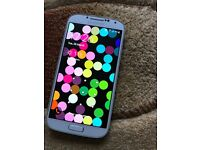Samsung s4. Mobile phone. Any sim. Mint condition!