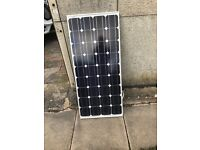 Caravan solar panel 80 watt, including a regulator and cables