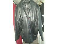 Men's Heeli Black Leather jacket Large