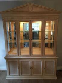 Beautiful lymed oak display cabinet