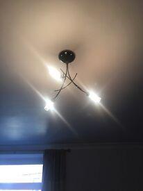 Ceiling light & 2 matching wall lights