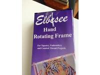 Hand rotating frame