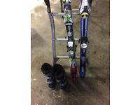 Size 9 boots and 2 pair of skis NOW SOLD