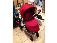 Britax Affinity Pushchair / Car Seat / Travel System - Chili Red