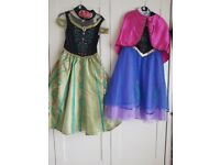Anna Frozen dresses sze 7 to 8 years