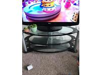 Large glass tv table
