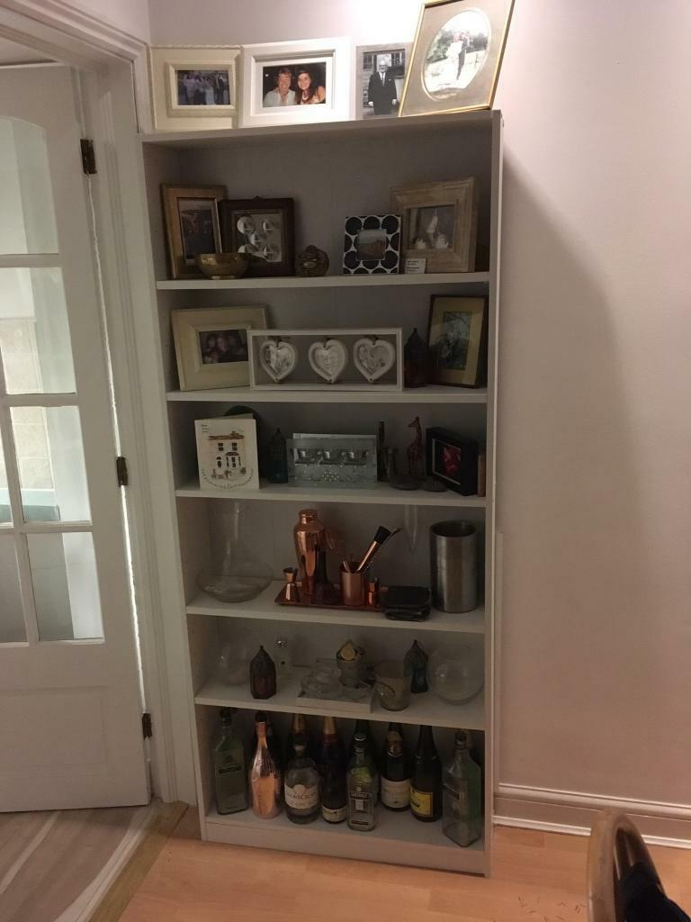 White book/display shelves