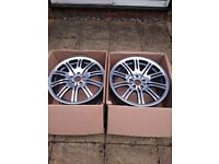 "Pair of new BMW M3 19"" alloy wheels (1 front and 1 rear)"