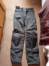 Ladies textile motorbike trousers size 6