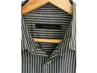 Calvin Klein grey shirt with white stripes