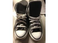 Converse All Star Grey Canvass Boots size 6