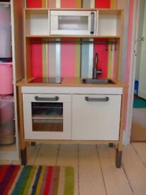 Ikea Duktig Wooden Toy Play Kitchen and Shopping Trolley