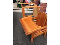 Baby's wooden high chair