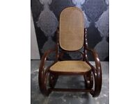 Beautiful Bentwood Rocking Chair Oak Finish - UK Delivery