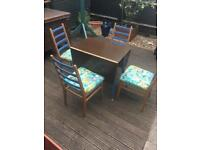 Upcycled four chairs and table