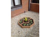 NEW RAISED OCTAGON FLOWER BED, WOODEN GARDEN FLOWER PLANTERS, DECKING STYLE FLOWER BED