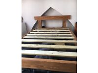 Wooden bed frame ....Sturdy hand made