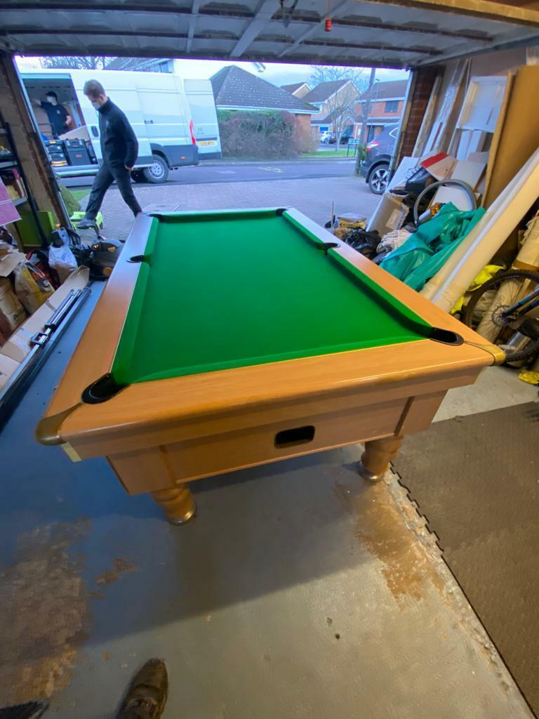 2nd Hand Good Condition Supreme Prince 7ft English Pool Table- Coin Op/Free Play
