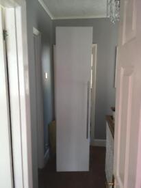 Single white wardrobe