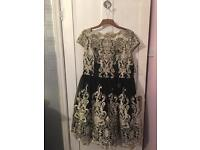 Chi Chi London black and gold dress