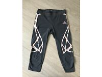Adidas Cropped running leggings Size M