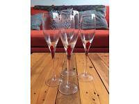 4 x beautiful champagne glasses