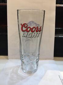 Coors Light Half Pint Glass