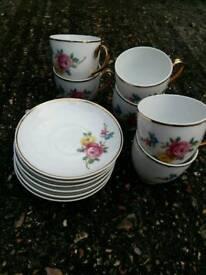 Tea and coffee sets.