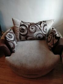 Corner Sofa and Cuddle chair