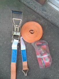 ratchet n strap, used once, excellent condition, more than 1 set available