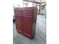Mahogany cabinet/bookcase/storage