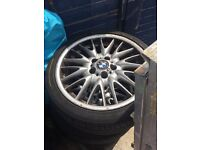 BMW msport alloys and tyres. 18 inch