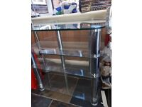 Tv stand - Glass and chrome