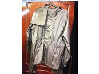 Cotton Traders 2 piece fully waterproof rain suit, with lightweight carrying bags, medium