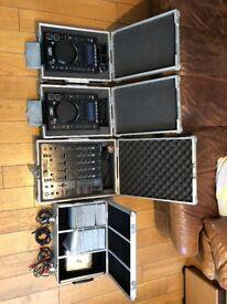 CD DJ decks set-up