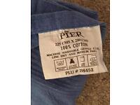 Extra large blue cotton throw - The Pier 250cm x 225cm