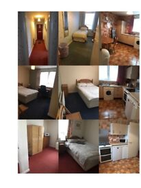 Three room, ground floor flat, with large dining kitchen, and bathroom/WC