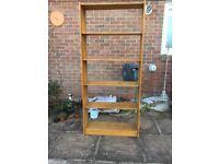 Wooden Bookshelf, 5 shelves
