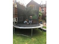 10ft round trampoline with enclosure. 3yrs old and plenty of bounce left! Relocating hence sale.