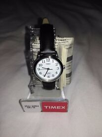Black Leather Ladies Watch from TIMEX - Brand New, BNIB, Never Used