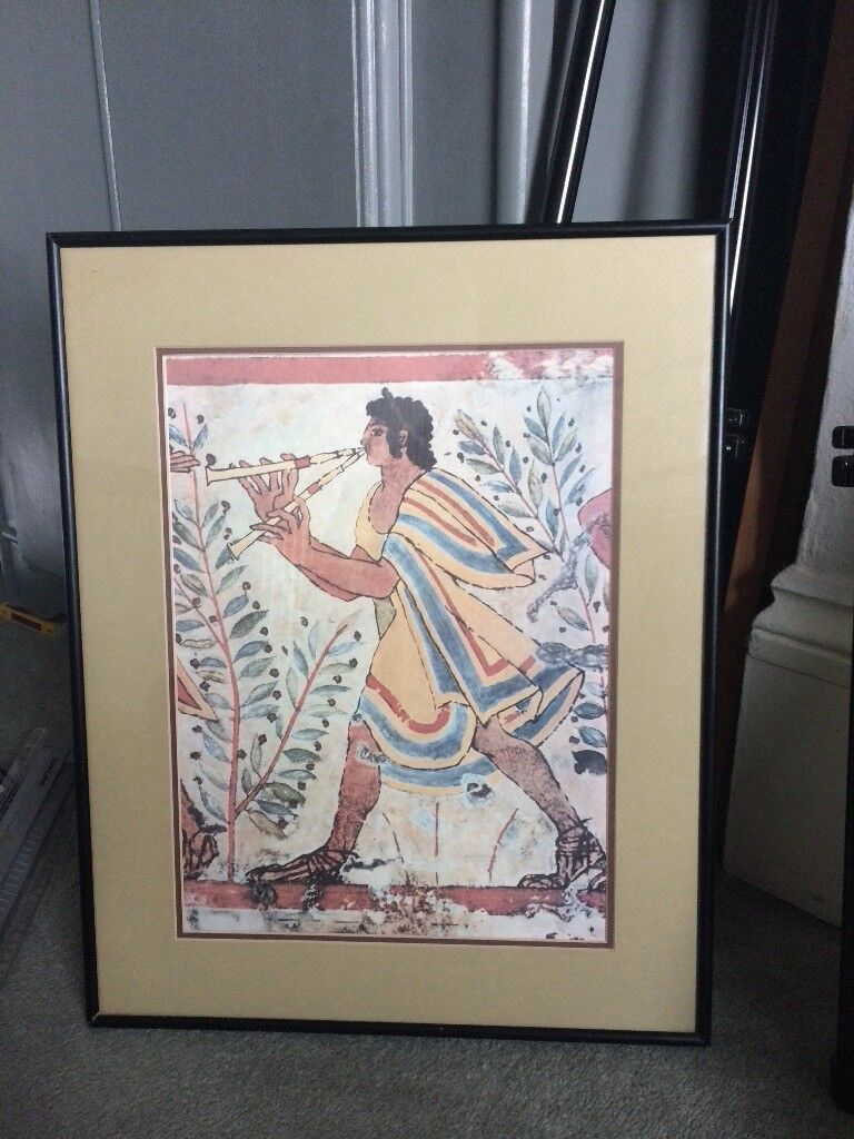 Egyptian art framed print painting picture