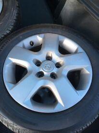 4 x Vectra Wheels. Astra, Zafira 5 Stud