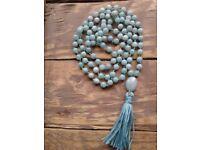 Amazonite Mala / Truth Mala / 108 Beads / Hand Knotted Mala / Gemstone Necklace / Gemstone Bracelet