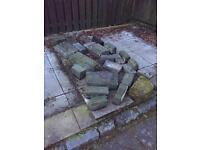 Free large stones/ masonry blocks/ rubble/ + 4 slabs