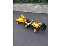 Smoby JCB Tractor and Trailor